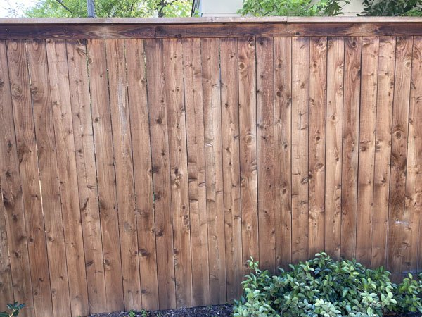 Before restaining a fence in Monticello Fort Worth