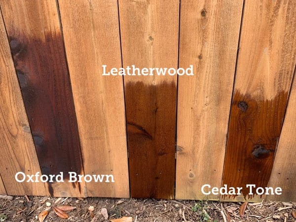 Different types of wood stain