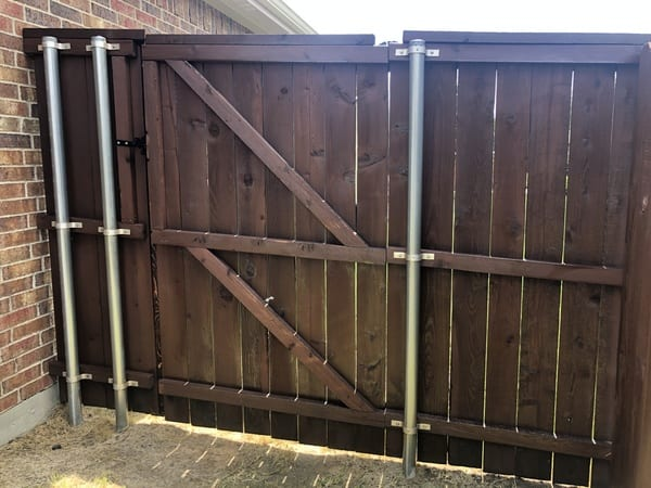 Fence gate after staining project