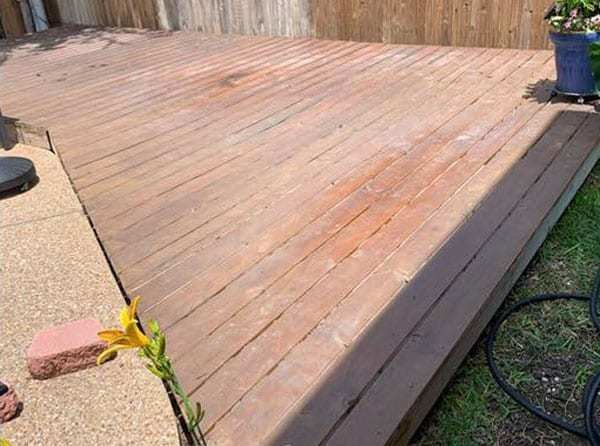 Before staining the deck